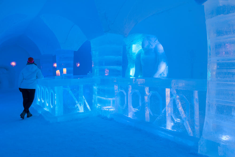Ice Bar at Sorrisniva Igloo Hotel in Norway