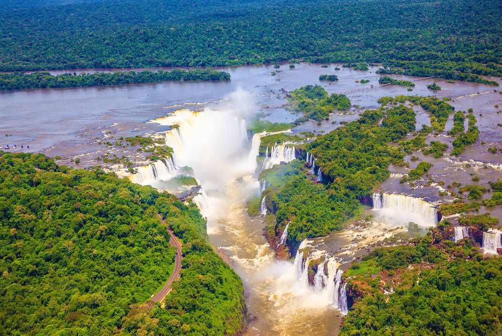 Iguazú Falls from Helicopter