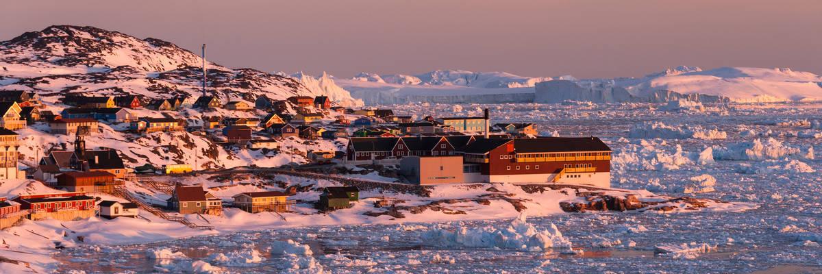 Ilulissat under the midnight sun