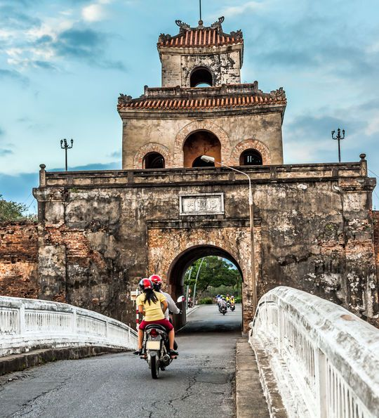Imperial Palace Gate and Moat in Hue, Vietnam