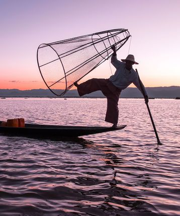 Inle Lake in Burma (Myanmar)