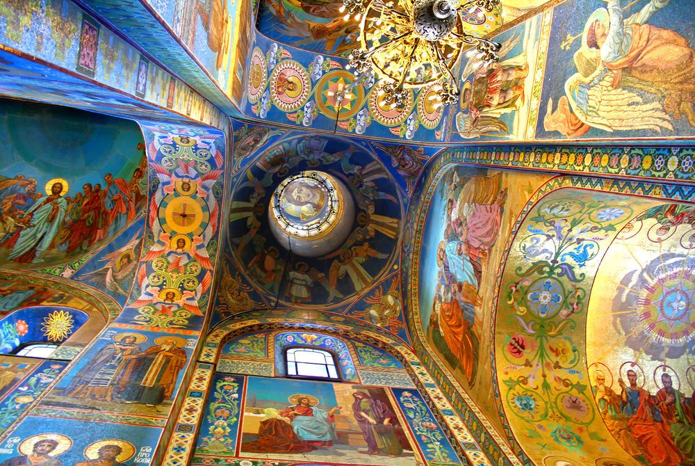 Interior, Church of the Savior on Spilled Blood, St Petersburg, Russia