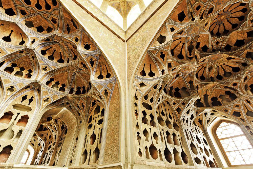 Interior of Ali Qapu at Naqsh-e Jahan Square, Isfahan