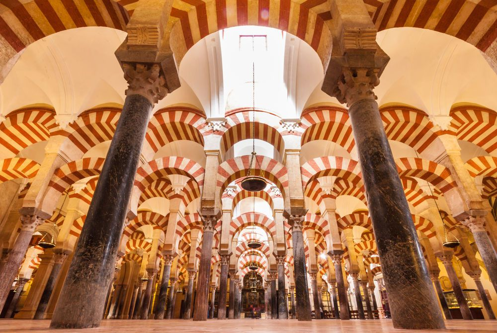 Interior of the Cathedral and former Great Mosque of Cordoba