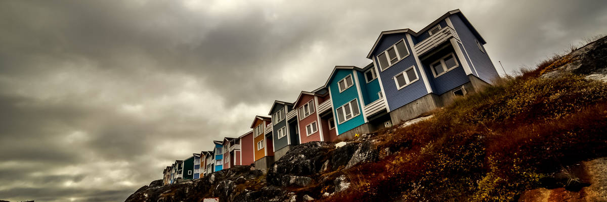 Inuit houses in Nuuk, Greenland
