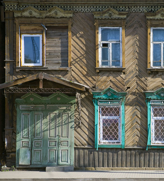 Irkutsk Houses, Golden Eagle Trans-Siberian Express