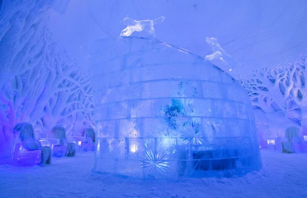 The ice domes in Tromso, Norway