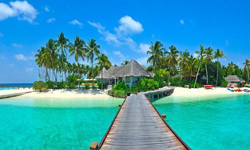Island jetty, Maldives