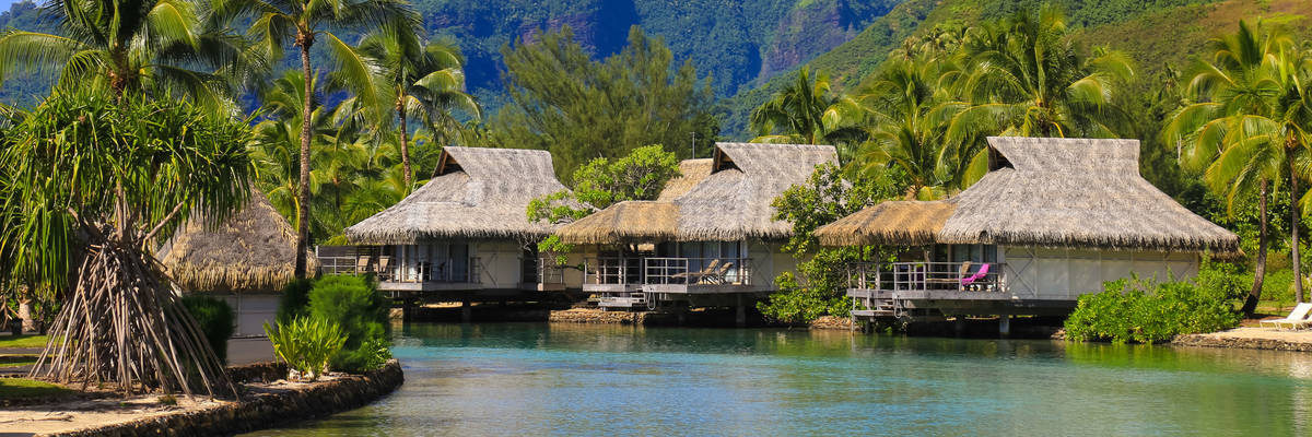 Island of Moorea in the French Polynesia