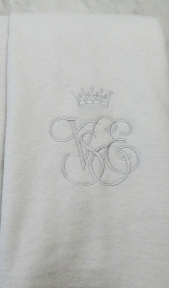 Embroidered towels - Grand Suite, Venice Simplon-Orient-Express