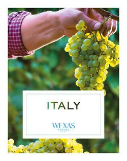 Cover for brochure Italy