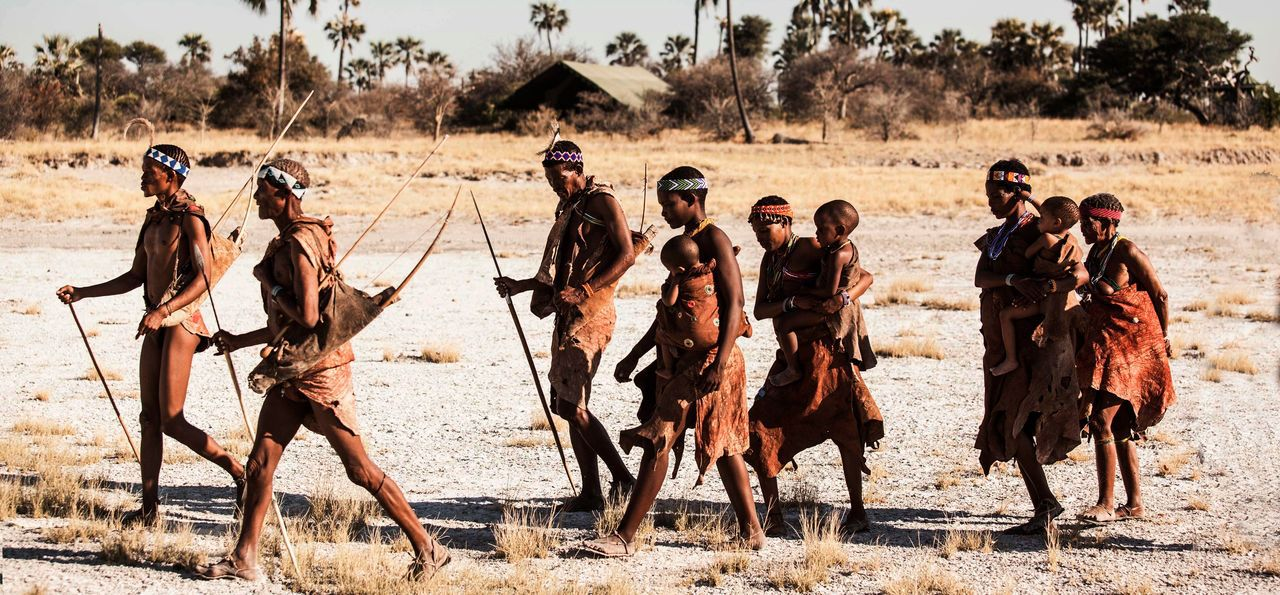 Native Bushmen in the Kalahari