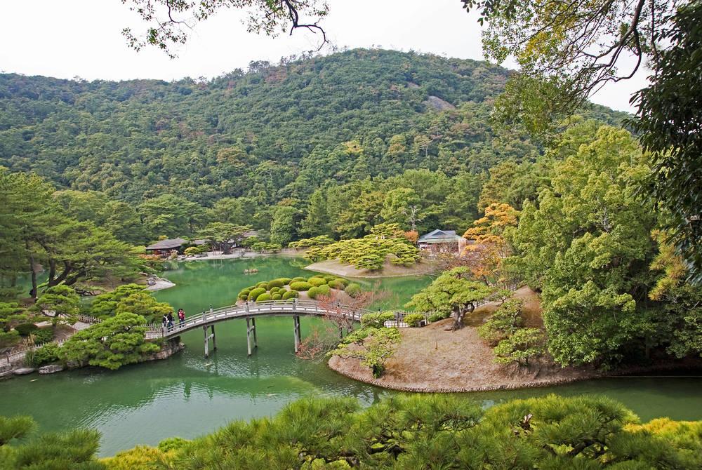 Japanese Garden in Takamatsu