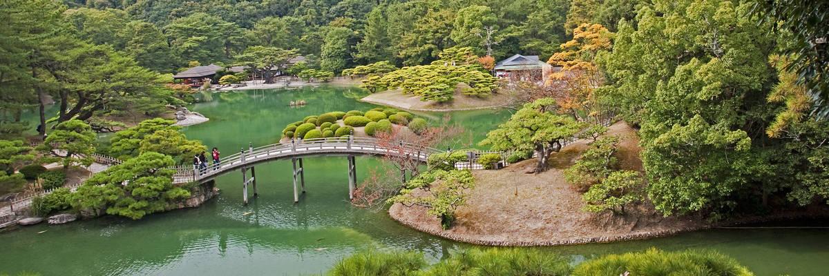 Japanese Garden in Takamatsu, Japan