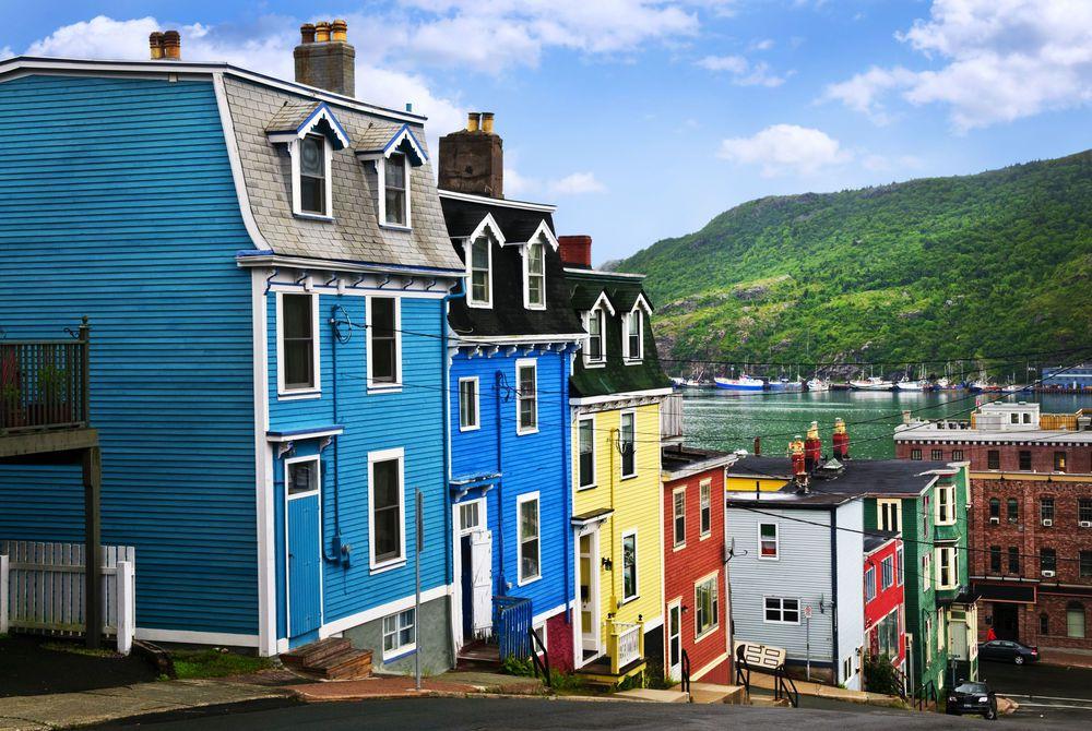 Jelly Bean Row Houses, St. John's, Newfoundland, Canada