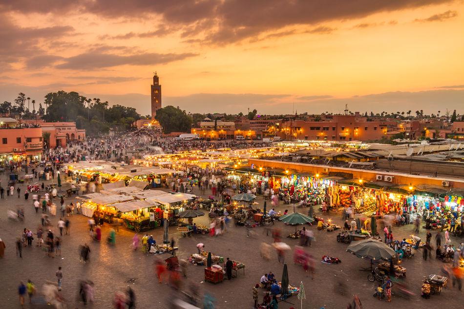 Jemaa el-Fnaa, Medina, Marrakech, Morocco