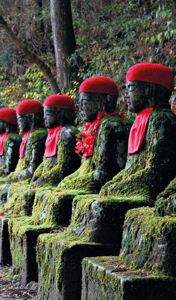 Jizo Statues, Nikko, Japan