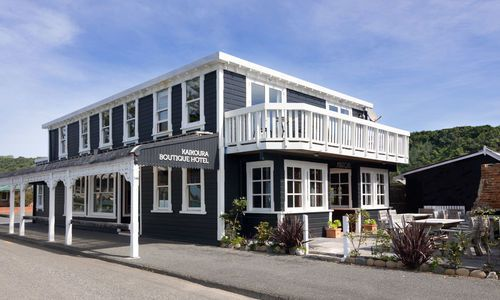 Kaikoura Boutique Hotel exterior, New Zealand