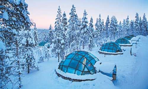 Kakslauttanen glass igloos, Finland