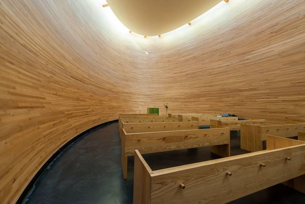 Kamppi Chapel interior, Helsinki