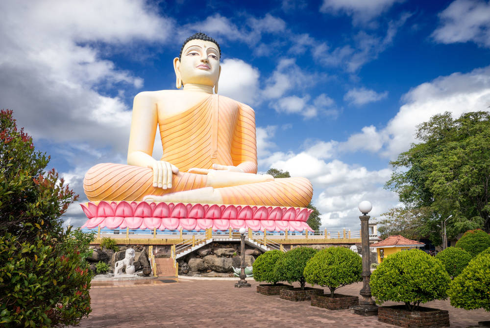 Kandy-Vihara Buddha Temple at Bentota