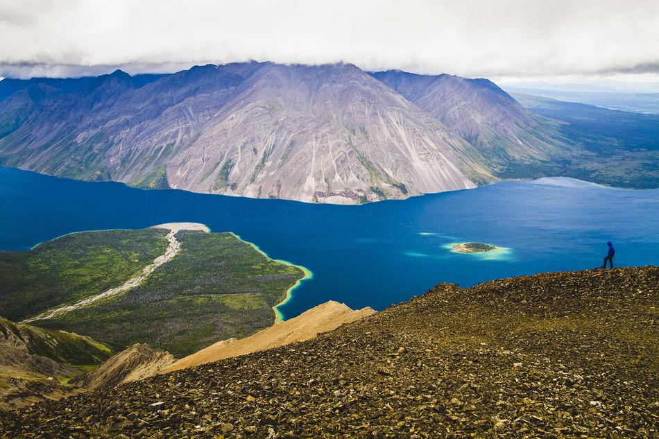 View of Kathleen Lake, Kluane National Park, Yukon, Canada
