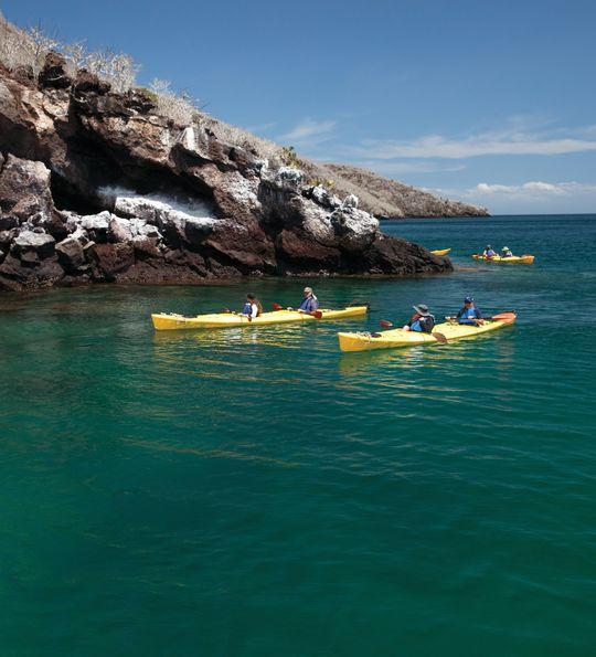 Kayaks in Galapagos