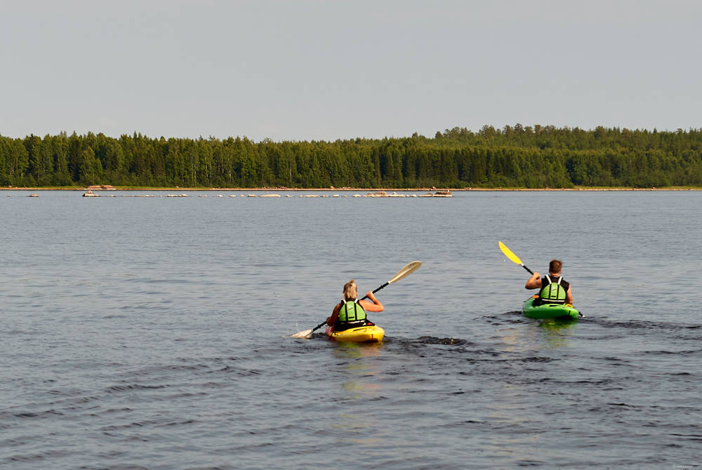 Kayaking, Brändön Lodge