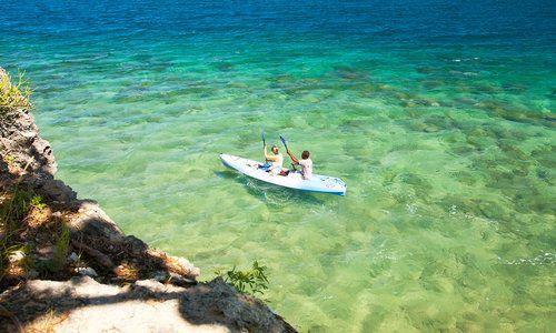 Kayaking, Quilalea Island, Mozambique