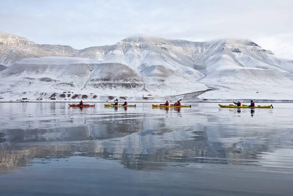 Kayaking on Adventfjord
