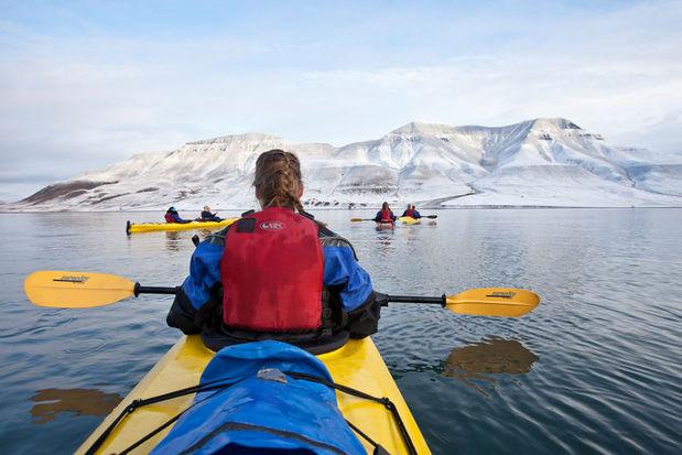 Tandem kayak on Adventjord