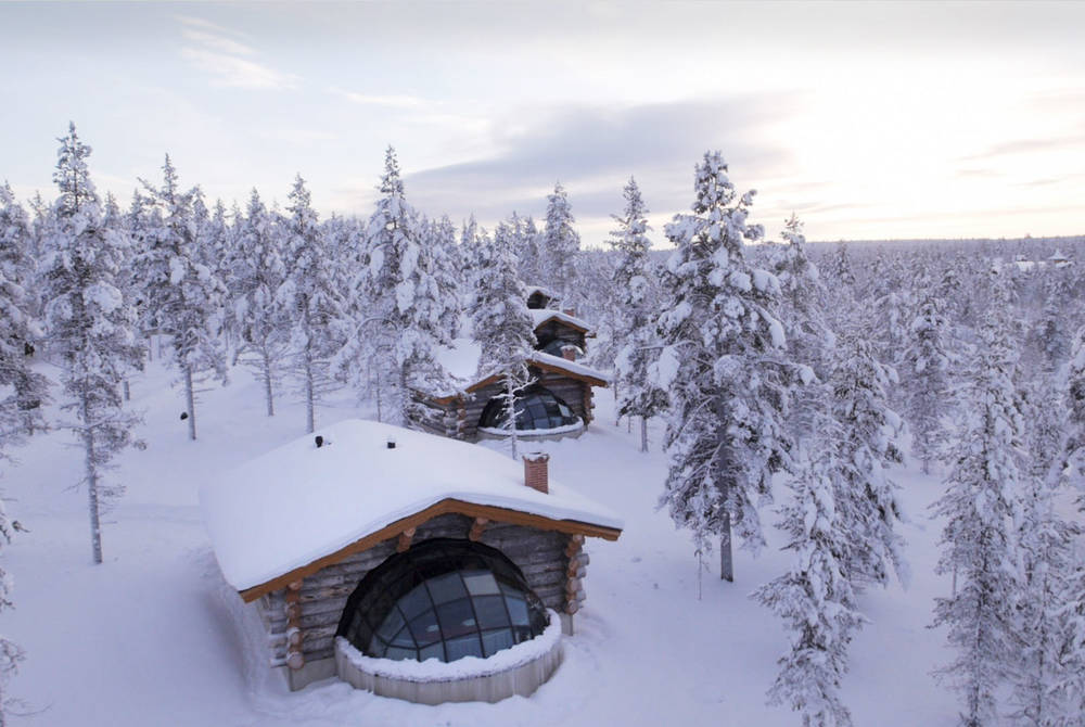 Kelo-glass igloo, Hotel Kakslauttanen, Finland