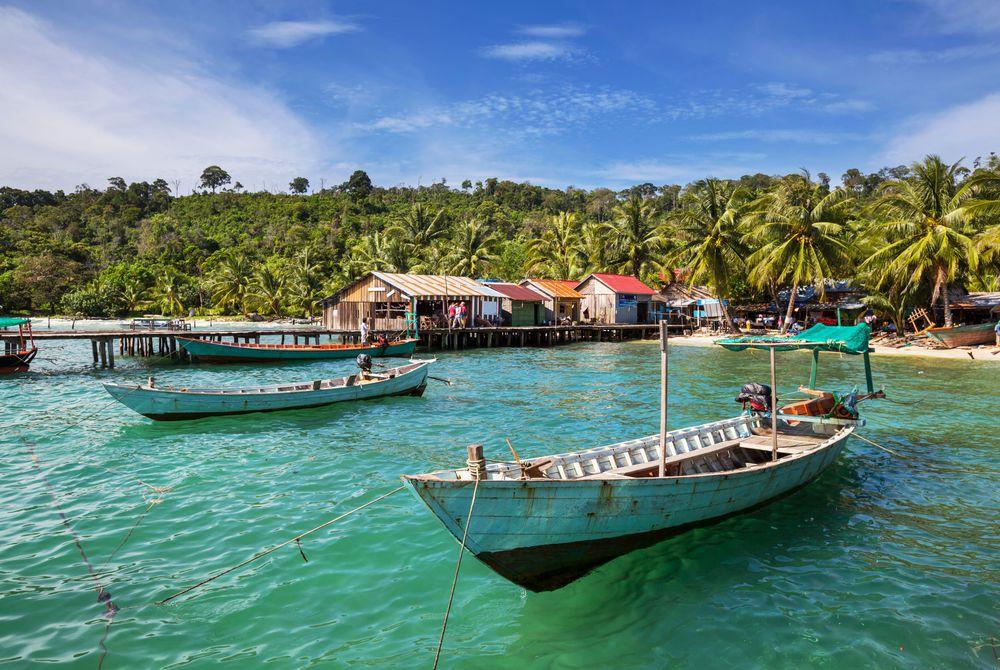 Kep, Boat, Water, Cambodia