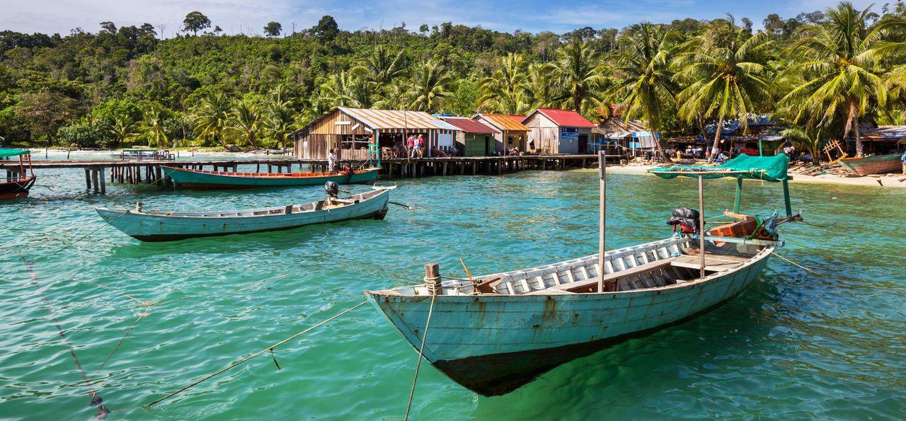 Kep jetty in Cambodia