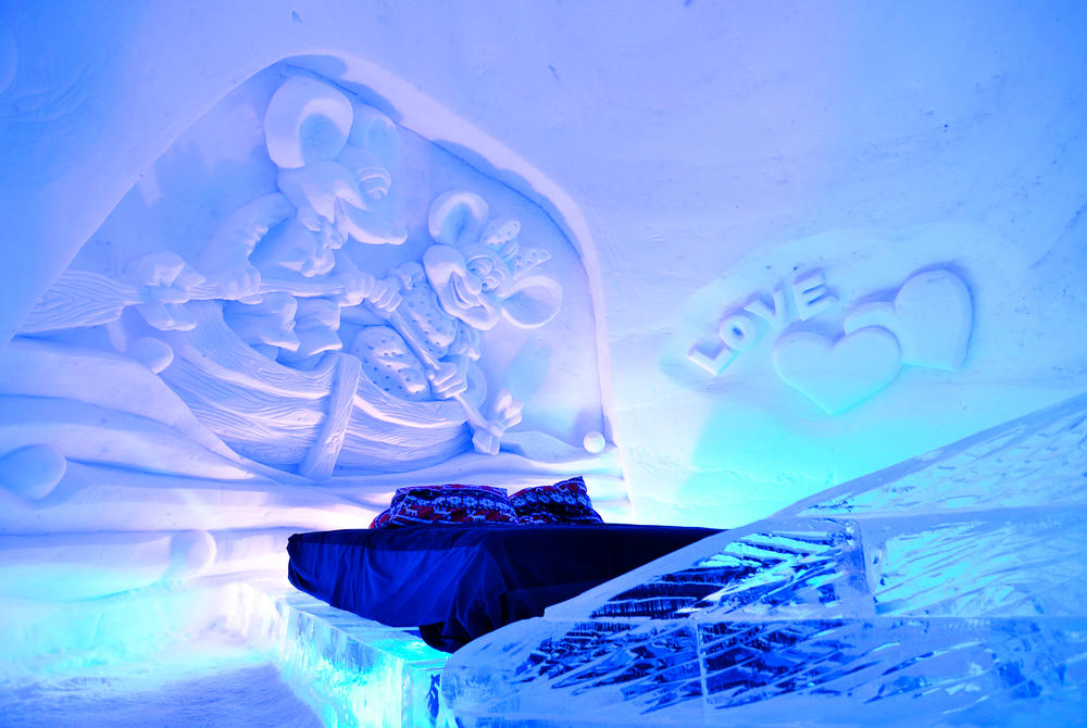 Ice room in Kirkenes Snowhotel in Norway