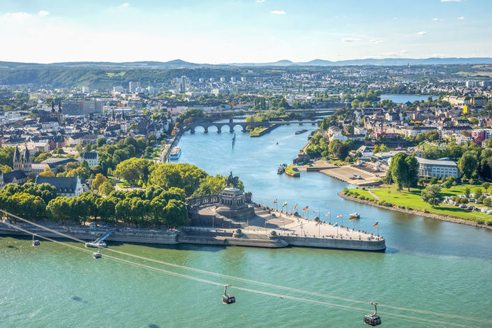 View of Koblenz from the Rhine