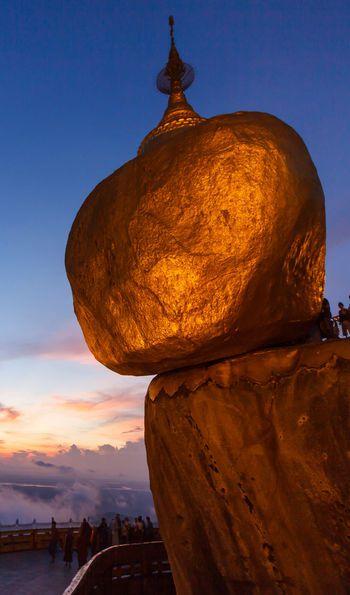Kyaiktiyo Golden Rock in Burma