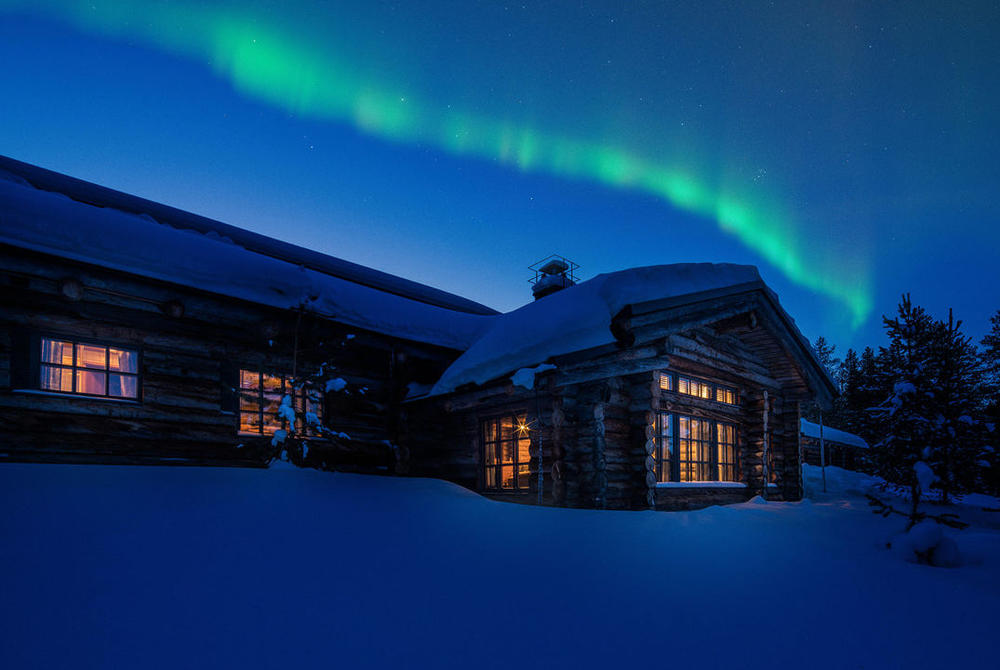 Northern Lights at L7 Luxury Lodge, Finnish_Lapland