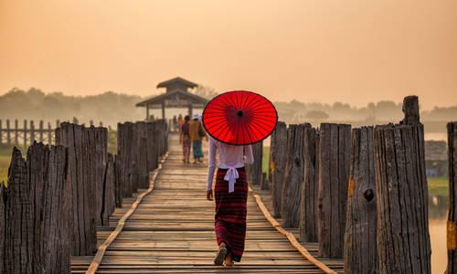 U Bein Bridge near Mandalay