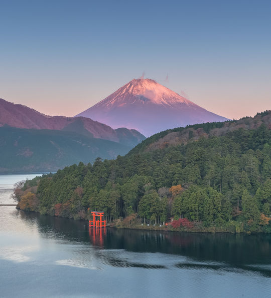 Lake Ashi and Mt. Fuji