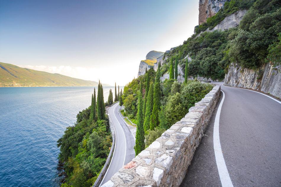 Road alongside Lake Garda, Italy