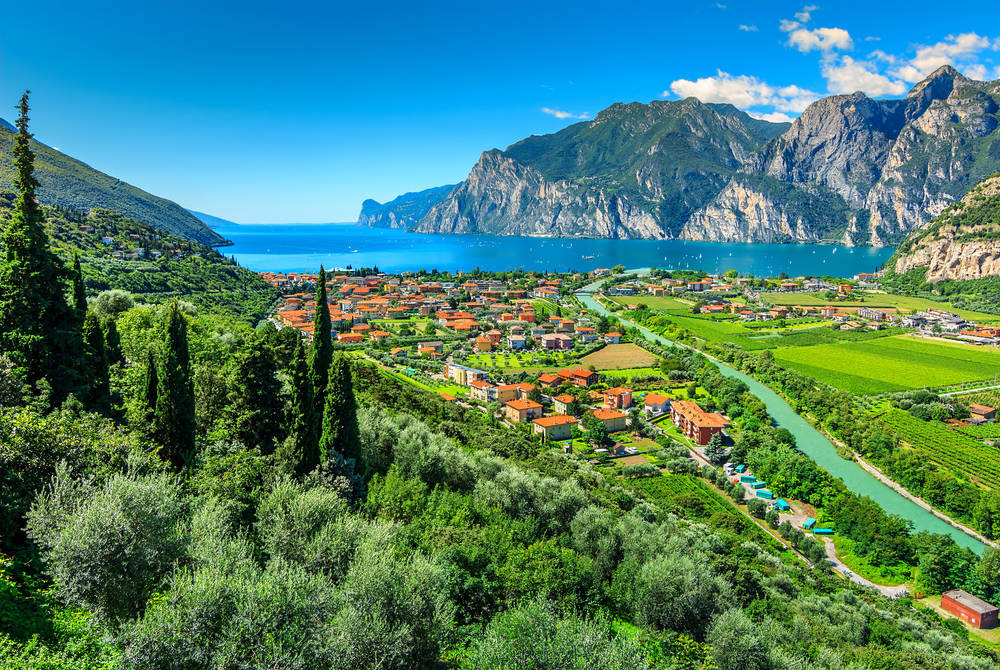 Torbole town and vineyards, Lake Garda
