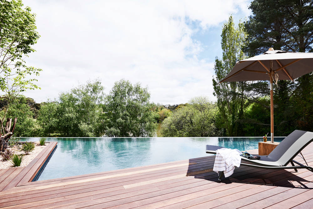 Infinity pool, The Lake House, Daylesford