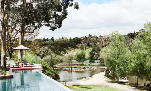 Lake House new infinity pool, The Lake House, Daylesford, Australia