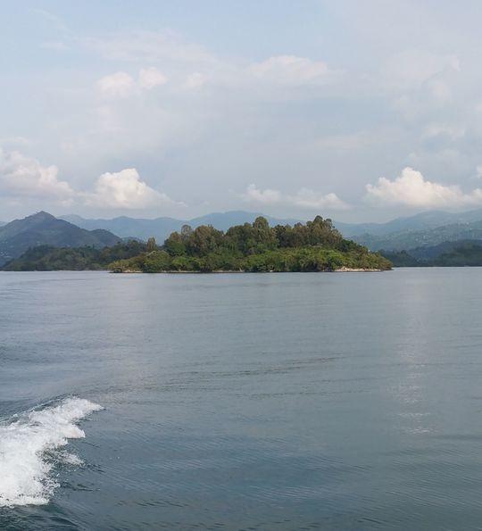Crossing Lake Kivu in Rwanda