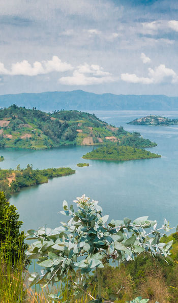 View over Lake Kivu into the DRC