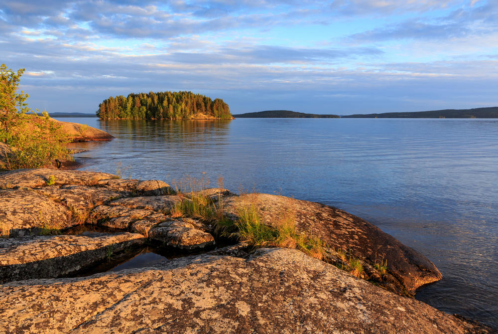 Rocks and water at Lake Paijanne, Finland