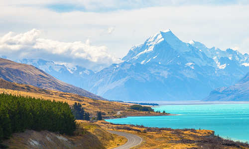Lake Pukaki and Mt. Cook, New Zealand