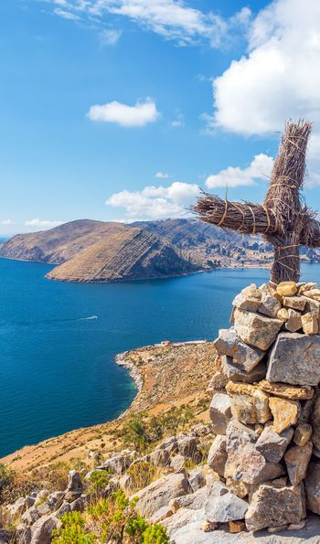 View over Lake Titicaca, Peru