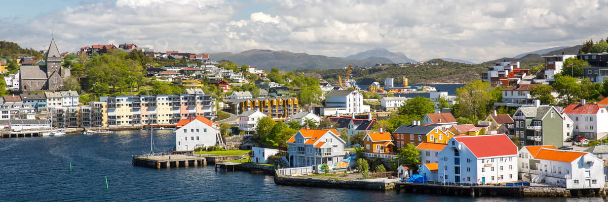 Landscape in Kristiansund, Norway